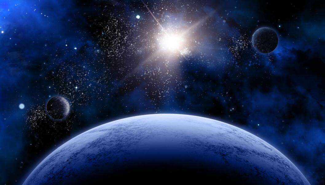Vi skal ikke lete langt unna hvis vi skal finne liv på andre planeter. Livet vil spre seg fra naboplanet til naboplanet, argumenterer en gruppe fysikere.  (Illustrasjon: Microstock)