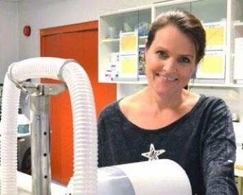 Doktorgradsstipendiat Elisabeth Edvardsen ved Norges idrettshøgskole. (Foto: Jarle Stokland)