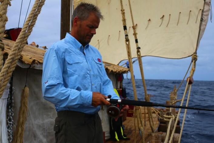 Skitt fiske enn så lenge, men det er lenge igjen av ekspedisjonen. (Foto: Håkon Wium Lie, Kon-Tiki 2)