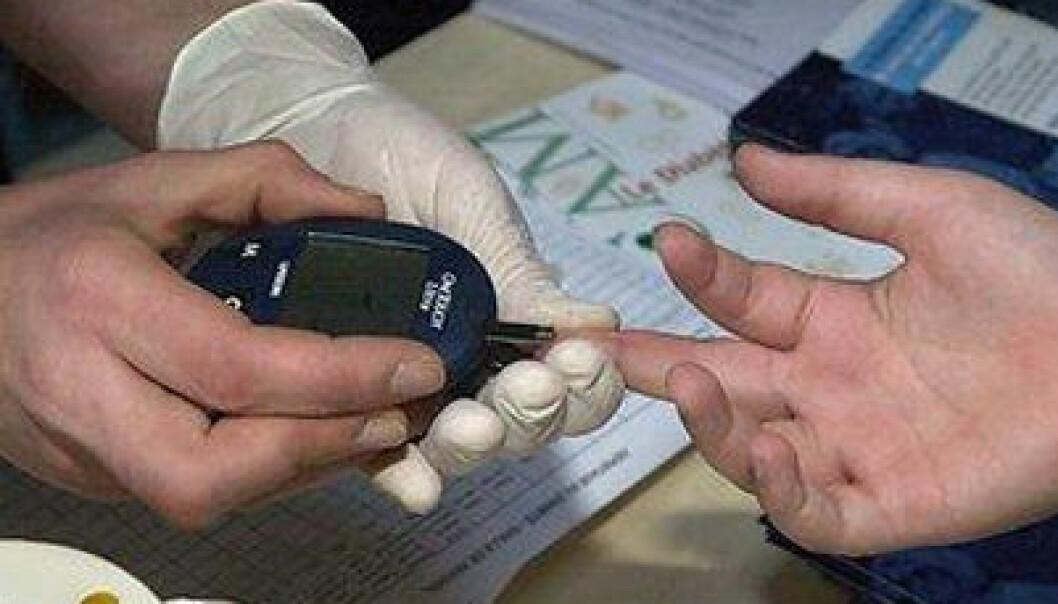 Halvparten av de som har diabetes i Norge, vet ikke om det. Er du tørst, slapp og sliten, kan det være lurt å sjekke blodsukkeret hos legen. Nå viser en ny studie at en medisin senker risikoen for alvorlige komplikasjoner som hjerte-karlidelser.  (Illustrasjonsfoto: Colourbox.no)