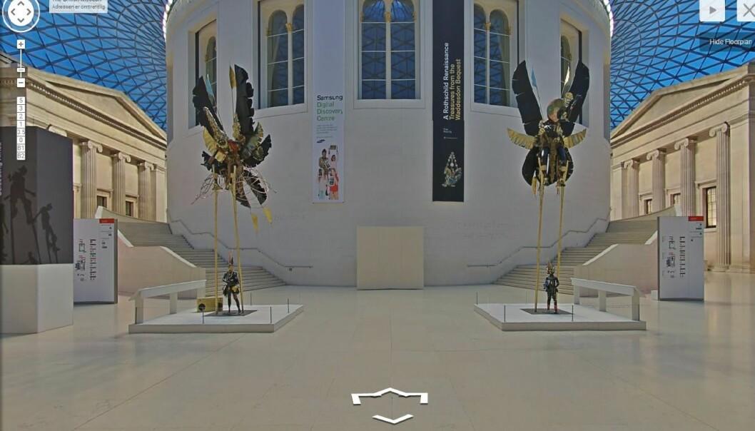 I tillegg til å navigere deg rundt i museet kan du ta en nærmere titt på utallige kunstskatter fra samlingen. (Kilde: Skjermdump fra Google Cultural Institute)