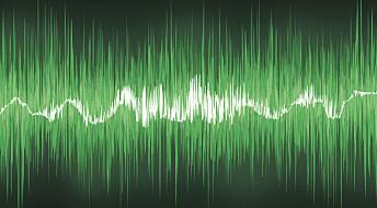 Lagrer data med lyd