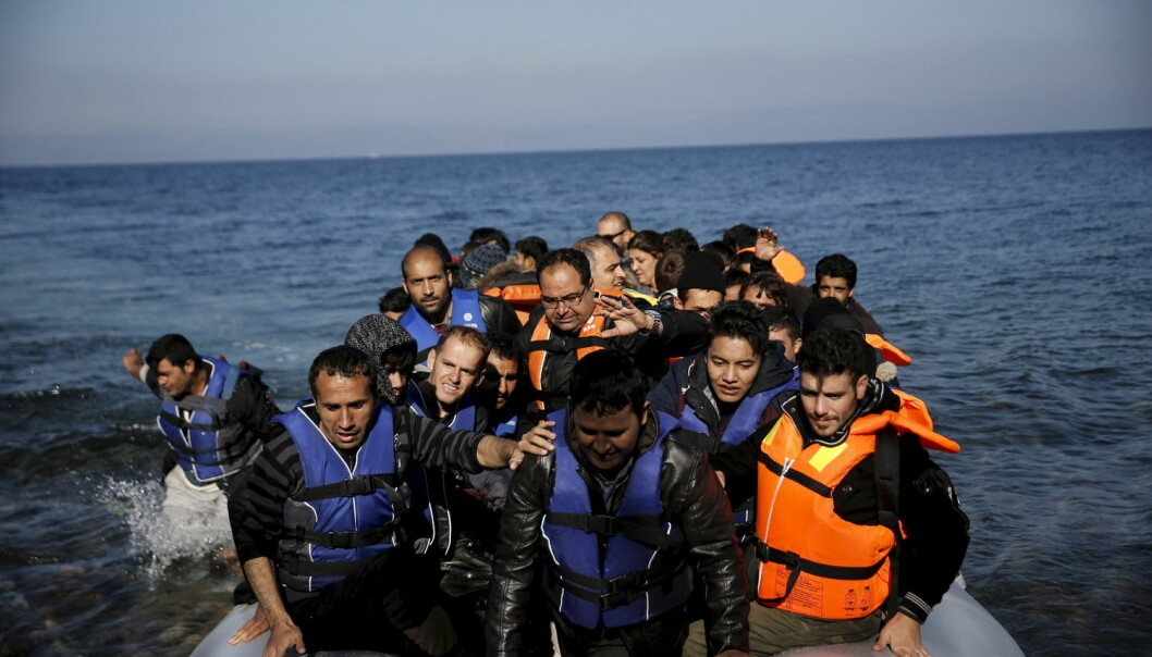 Flyktninger ankommer Lesbos i Hellas i november 2015. Den farefulle flukten kan for noen være en traumatiserende opplevelse.  (Foto: Alkis Konstantinidis, Reuters)