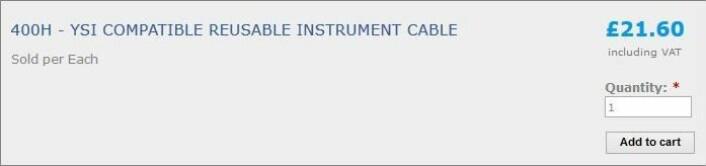Denne kabelen skal ikke ut, men inn. Forhåpentligvis er den ikke like stiv som prisen. (Foto: (Skjermdump: henleysmed.com))