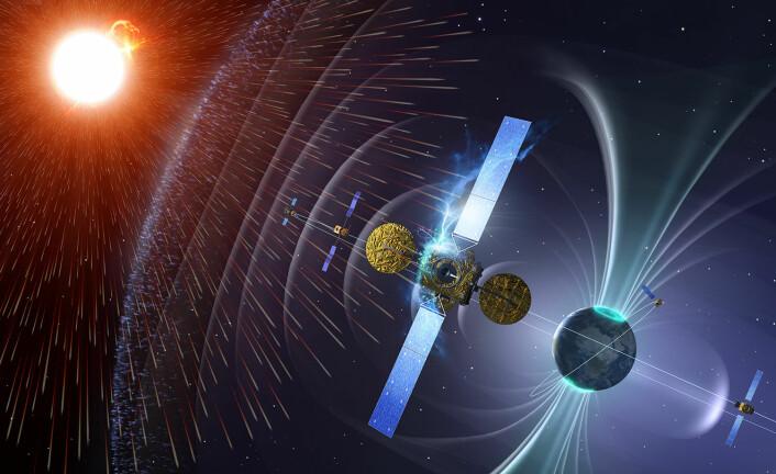 Dårlig romvær kan slå ut satellitter og annen teknologi i bane, og til og med skade elektrisk infrastruktur på bakken. ESAs program Space Situational Awareness varsler romværet. (Foto: ESA/P.Carril)