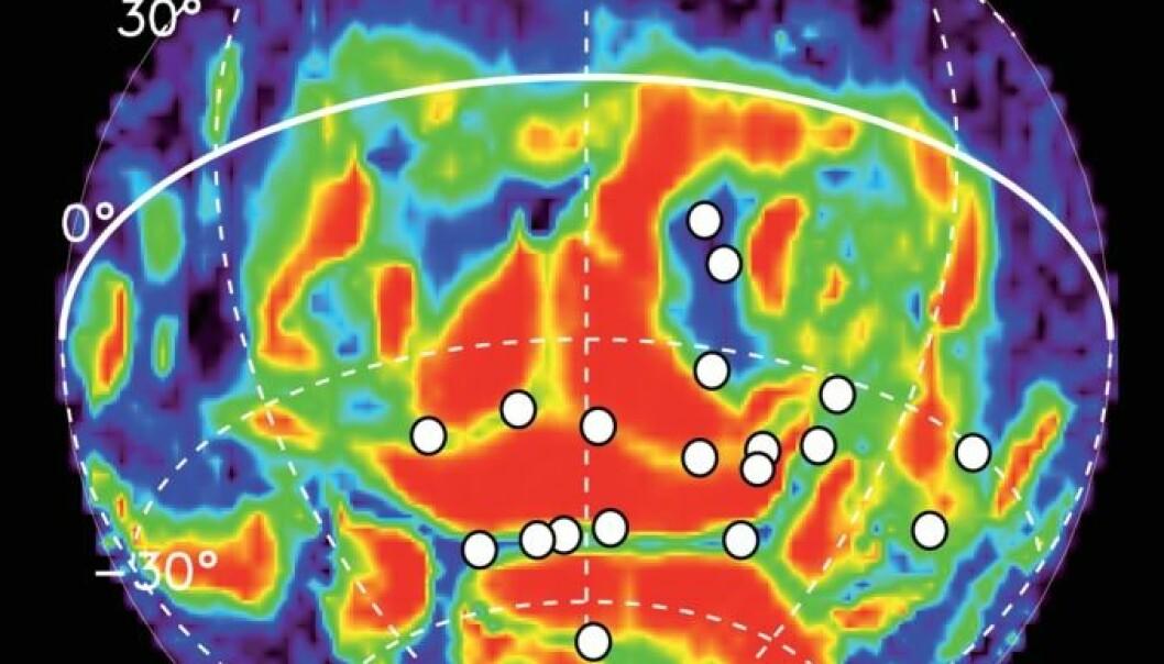 Nordlyset på Mars er ultrafiolett og vertikalt