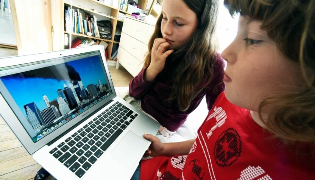 Det barn oppfatter som virkelige hendelser, kan virke mest skremmende, også på 10-åringene Anna og Aslak.  (Foto: Ola Sæther/ UiO)