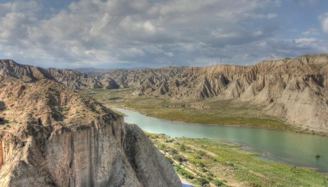 Forskerne har avdekket hvor løsspartiklene i løssplatået i Kina stammer fra. De kommer hele veien fra det nordøstlige Tibet og bæres av Huang He – Den gule flod – som tar med seg partikler fra Tibetplatået.  (Foto: Thomas Stevens)