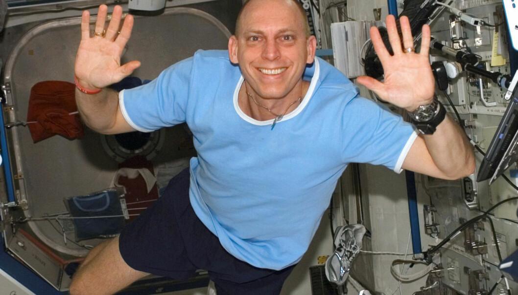 Du vil ikke tro hva astronaut Clayton C. Anderson gjorde på den internasjonale romstasjonen... (Foto: NASA)