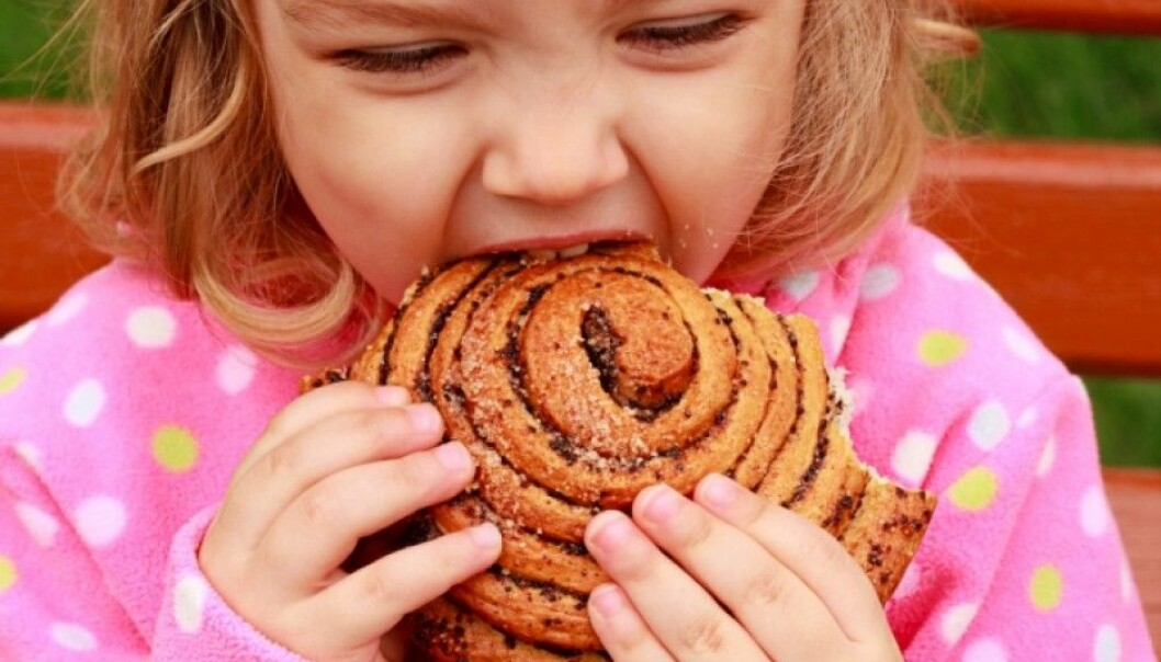 A person with coeliac disease would not have been able to eat this cinnamon roll. Coeliac disease is an allergy to gluten. Gluten are proteins from wheat, rye, barley and all closely related species as kamut and spelt. (Photo: Colourbox)