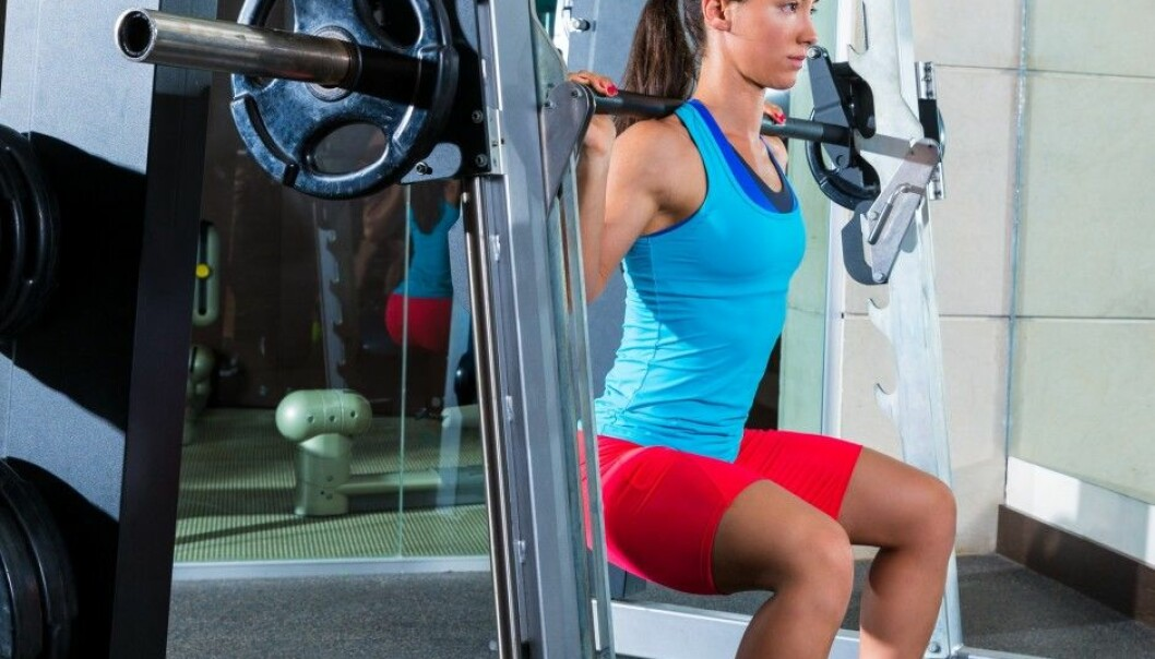 Squats are one of the exercises the female cyclists have done through this experiment. (Illustration photo: Microstock)