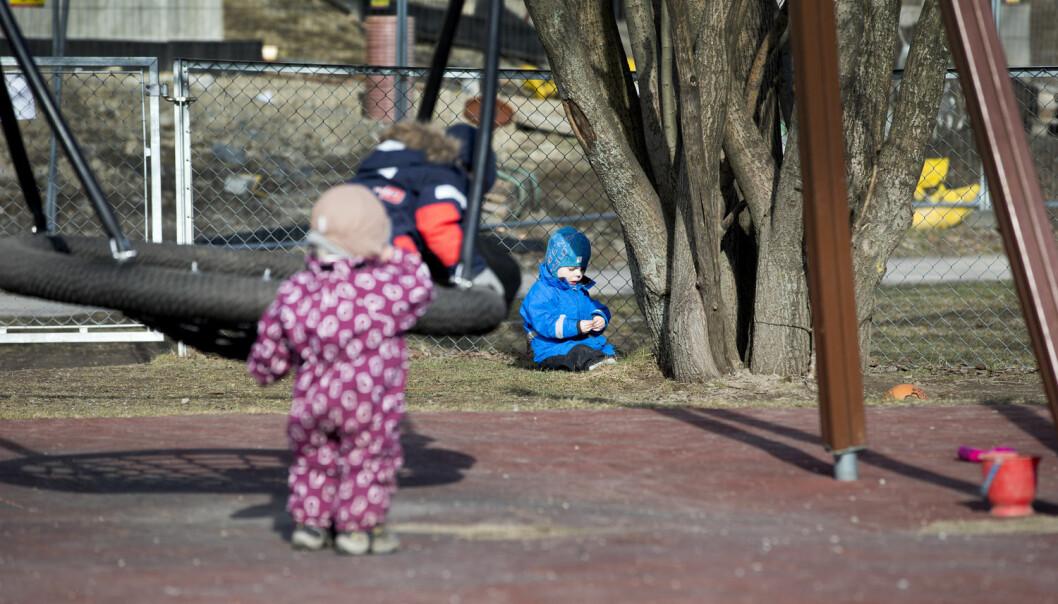 Barnehageforskere mener at den beste språkstimuleringen for barn mellom ett og tre år kommer gjennom fri lek. (Illustrasjonsfoto: Gorm Kallestad, NTB scanpix)