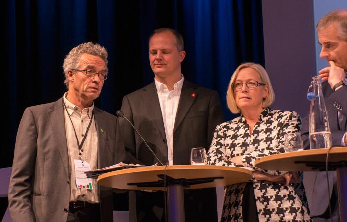 Rasmus Hansson fra MDG ville at tiltak skulle kobles tettere til klare, konkrete miljømål. (Foto: Arnfinn Christensen, forskning.no)