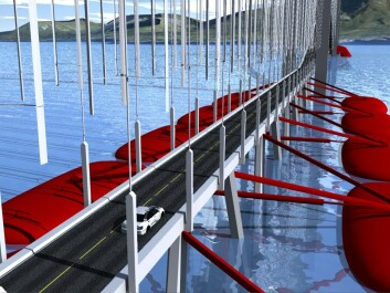 Energy producing bridge with  wave energy. (Illustartion: Ben-Tommy Eriksen, NorNet)