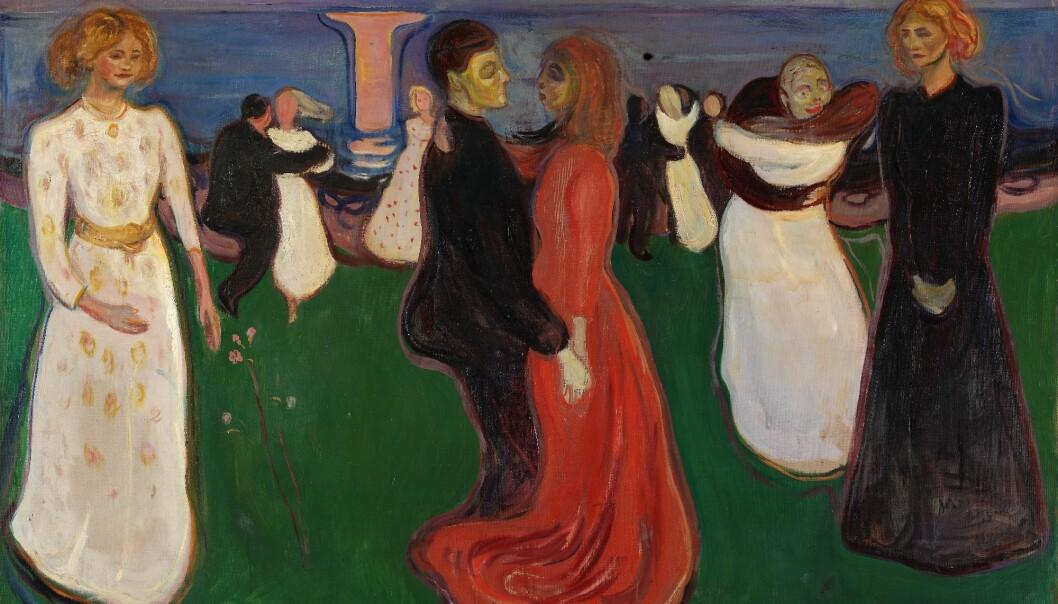 «Livets dans» er et av 232 Edvard Munch-verkene som nå er tilgjengelig i Nasjonalmuseets nettgalleri. (Foto: Børre Høstland, Nasjonalmuseet)