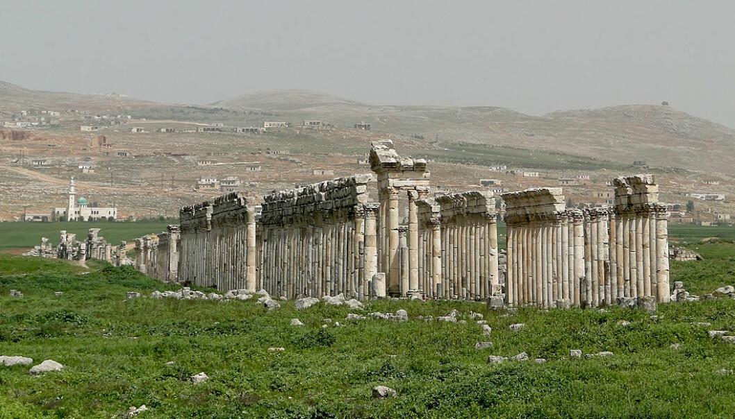 Storstilt plyndring av fortidsminner i Syria