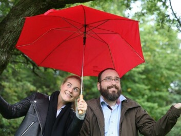Kaia Bing and Jon Arne Engan from NMBU are working to find solutions to deal with more and heavier precipitation. (Photo: Liv Røhnebæk Bjergene)