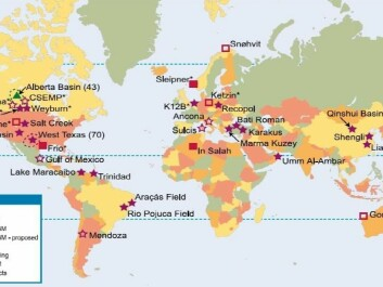 CO2- storage in the world. Click for larger picture.