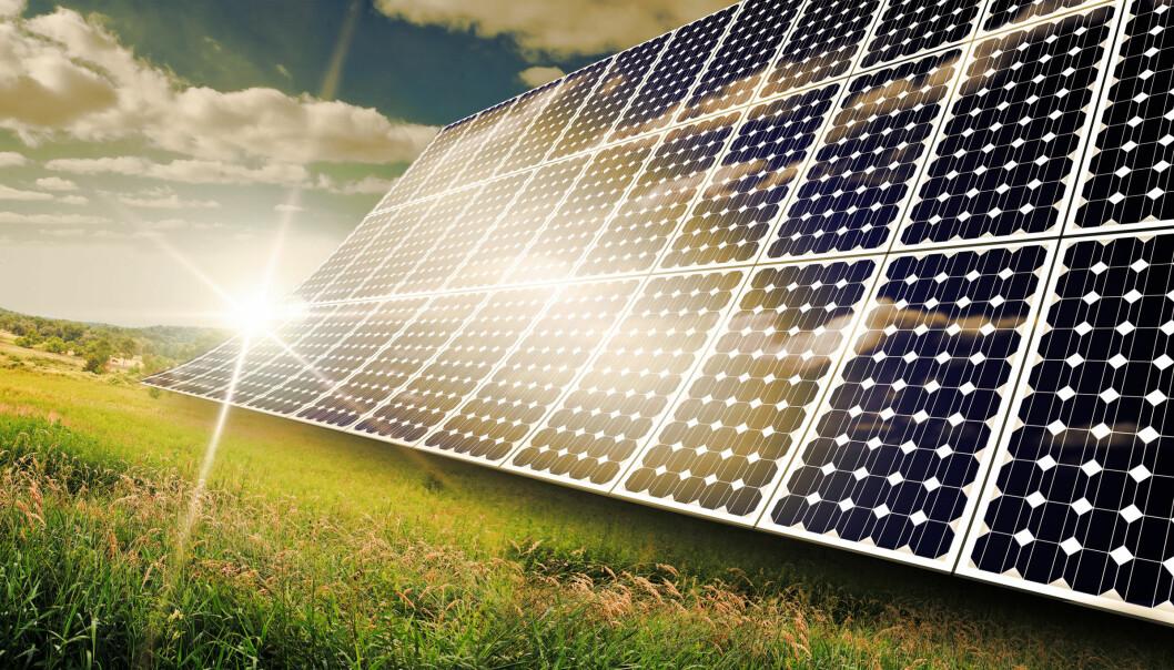 En spesiell jernforbindelse kan forvandle sollys til elektrisitet på en effektiv måte, noe som kan føre til billige solceller som kan brukes alle steder.  (Illustrasjonsfoto: Microstock)