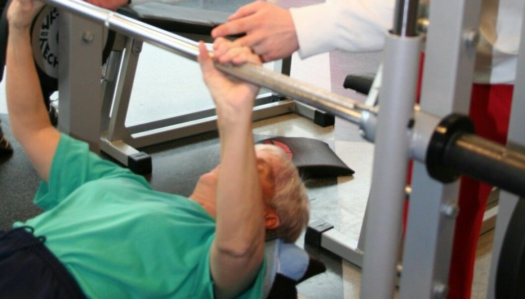 The test persons got 25 percent stronger in the upper body through the project. (Photo: Hilde Lohne-Seiler)