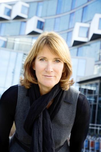 Kari Sandberg i Entreprenørforeningen - Bygg og Anlegg har ikke hørt om bedrifter som nedbemanner gjennom sykefravær. Foto: EBA (Foto: EBA)