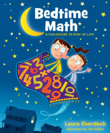 Bedtime Math er både en app for iOS og Android og en bokserie. (Foto: (Illustrasjon: www.bedtimemath.org))