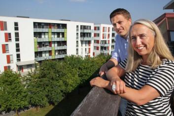 Ellen-Marie Forsberg og Jørgen Strøm-Gundersen skal utvikle velferdsteknologi til bruk i bolig.  (Foto: Elin Fugelsnes)