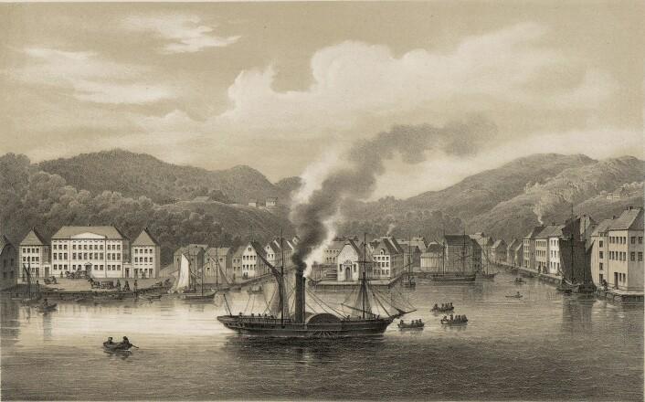 Dampbåtene gjorde at informasjon og varer raskere kunne fraktes. (Foto: (Illustrasjon: Wikimedia Commons))