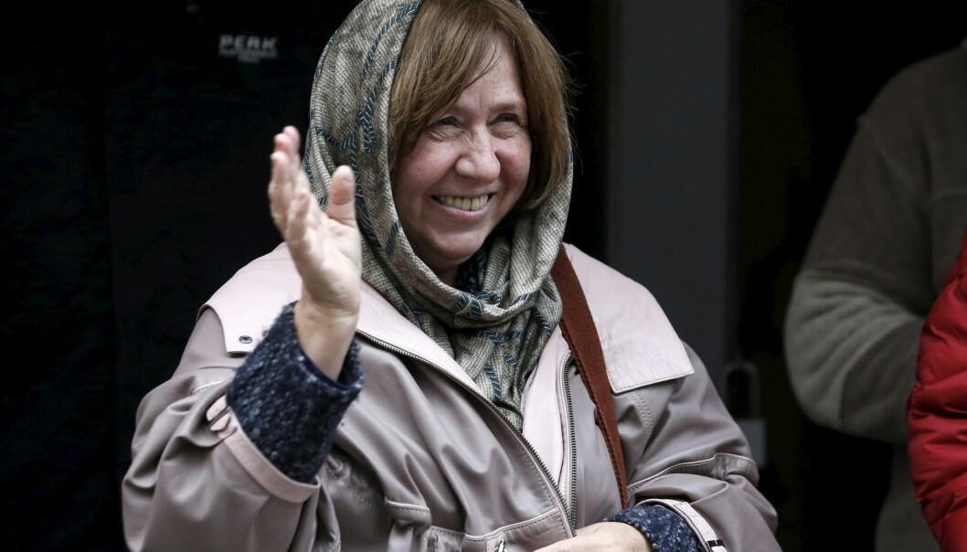 Årets Nobelpris i litteratur gikk til den hviterussiske journalisten og forfatteren Svetlana Aleksijevitsj. (Foto: Vasily Fedosenko, Reuters)