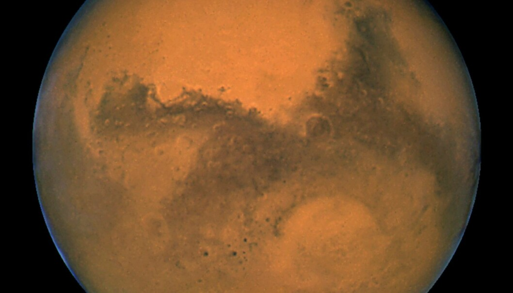 Mars sett med romteleskopet Hubble. (Foto: NASA handout, Reuters)