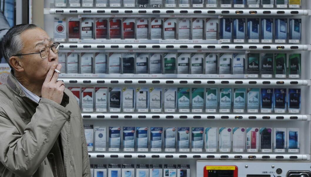 Kinesere konsumerer over en tredel av verdens sigaretter.  (Foto: Toru Hanai, Reuters)