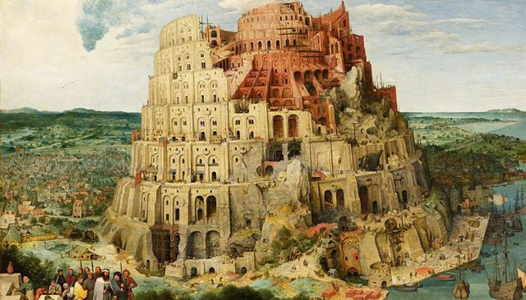 I historien om Babels tårn prøvde folk å komme nærmere Gud. Nå ønsker forskere i stedet å undersøke religionenes betydning for mennesker på jorden.  (Maleri: Pieter Brueghel den eldre, Kunsthistorisk museum i Wien)