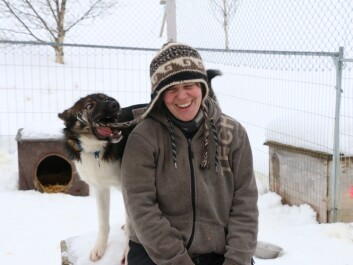 Emilie Guegan has 12 sled dogs that she trains for long distance racing, including this playful puppy. (Photo: Nancy Bazilchuk)