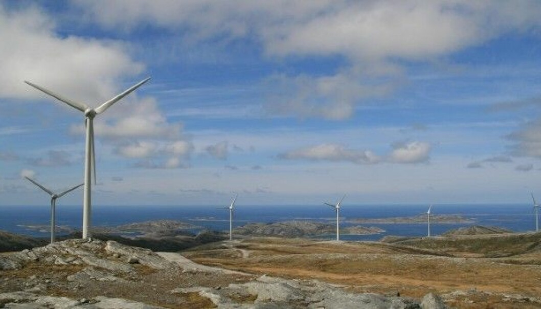Even the large wind farm in Trøndelag, Norway doesn't constitute a transition to green energy. But it's a beginning, says Associate Professor Espen Moe. This view shows Bessakerfjellet in Roan. (Photo used with permission from Project Manager Kjell Inge Skaldebø, Vindsenter Fosen.)