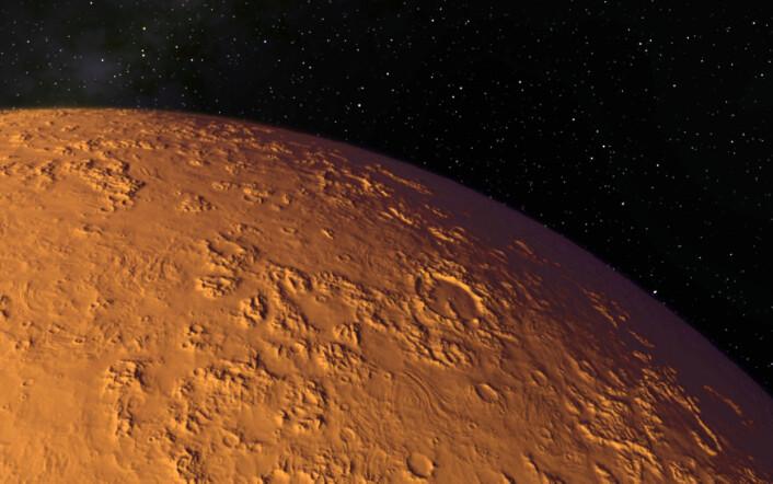 Mars-atmosfæren består av 95 prosent karbondioksid. Kan ein lage oksygen av dette? (Illustrasjonsfoto: Microstock)
