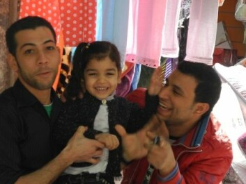 Two young men with their niece: Bighearted and lighted blooded. Cairo 2010. (Photo: Nefissa Naquib)