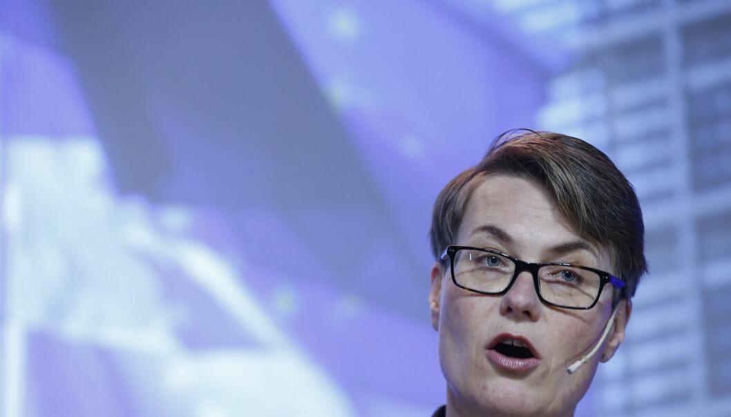 Klima- og miljøminister Tine Sundtoft (H) er glad for at FN nå har lagt fram et første forslag til hvordan klimaavtalen som skal vedtas i Paris i desember, kan se ut.  (Foto: Terje Pedersen, NTB scanpix)