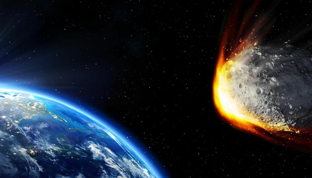 Den klassiske teorien er at dinosauerene døde ut da en diger asteroide traff jorden. Men er dette hele historien?  (Illustrasjon: Microstock)