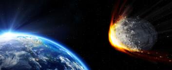 """""""Da asteroiden traff og gjorde livet vanskelig for de svære dinosaurene, fantes det få smådinoer som kunne ta over etter at kjempene døde ut. Derimot stod pattedyrene klare, og derfor er vi her i dag."""" (Foto: (Illustrasjon: Don Davies/NASA))"""