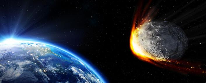 Den klassiske teorien er at dinosauerene døde ut da en diger asteroide traff jorden. Men er dette hele historien? (Foto: (Illustrasjon: Don Davies/NASA))