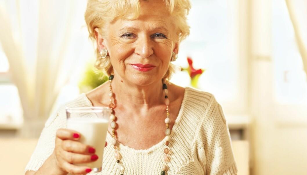 Melk hjelper ikke mot beinskjørhet hos eldre