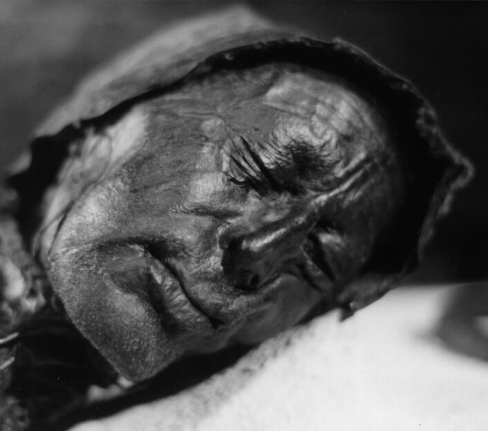 Tollundmannen, som ble funnet i en myr i Danmark i 1950. Kroppen er rundt 2300 år gammel, men utrolig godt bevart. (Foto: Sven Rosborn)