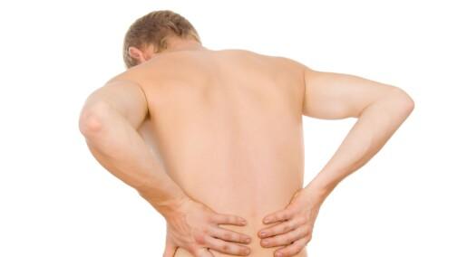 - Gå på jobb med vond rygg