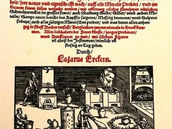 Ulseth and Lohne followed a 1574 recipe by the Saxon and Bohemian coin master Lazarus Ercker. (Photo: Idun Haugan, NTNU)