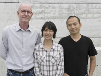 (from left) Karl-Henning Kalland, Yi Qu and Xisong Ke experiment with chemicals and drugs to find new treatments for cancer. (Photo: Kim E. Andreassen)