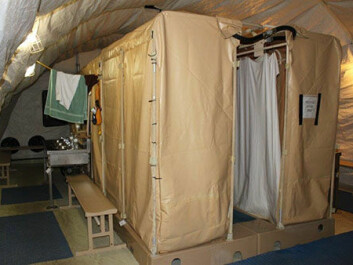 Shower facilities at Guantanamo. (Photograph taken by Kjersti Lohne and approved by Joint Task Force Guantanamo's Operational Security.)