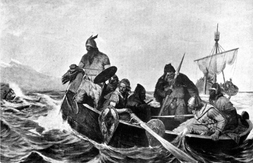 Dressed up with jewellery stolen in Viking raids