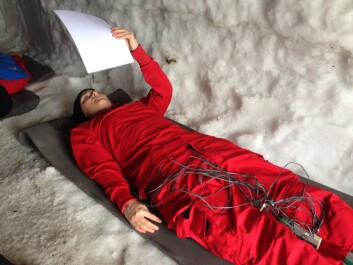 Frozen in the name of the research at Hemsedal, Norway. (Photo: Øyvind Thomassen)