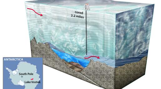 Livløs underjordisk sjø i Antarktis