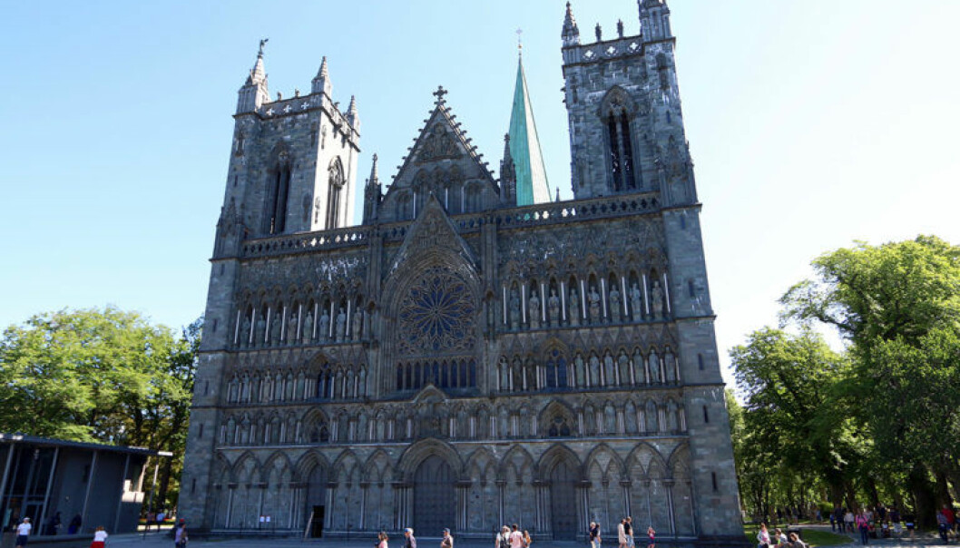 The Nidaros Cathedral in Trondheim is Norway's national cathedral, home to royal weddings and coronations. It is also the northernmost Gothic cathedral in the world, and a draw for pilgrims for nearly a millennia. (Photo: Nancy Bazilchuk, NTNU)